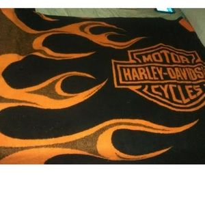 Harley Davidson  Fleece Throw Blanket 48x56